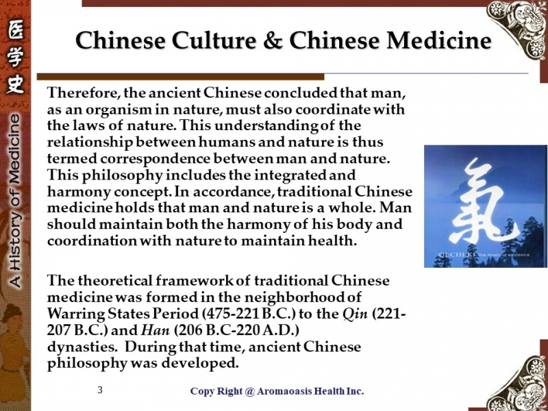 Ancient Chinese Philosophy & TCM 3